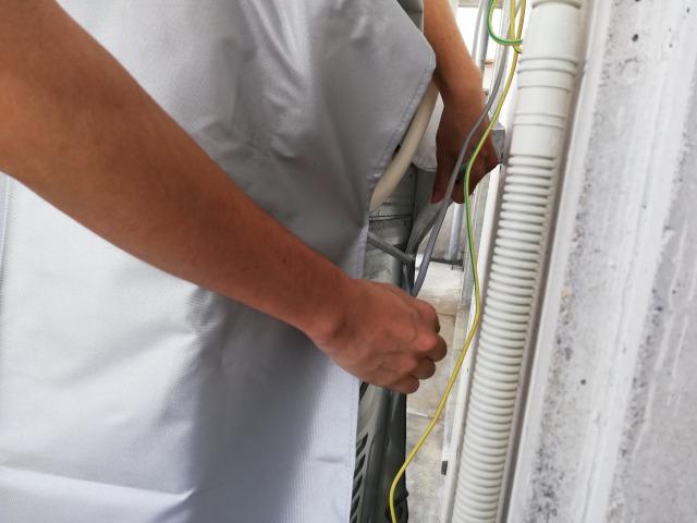 ファスナータイプの洗濯機カバーの付け方