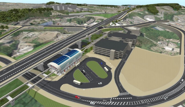 浦西駅の完成図-1