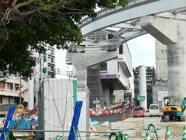 浦添前田駅の周辺工事