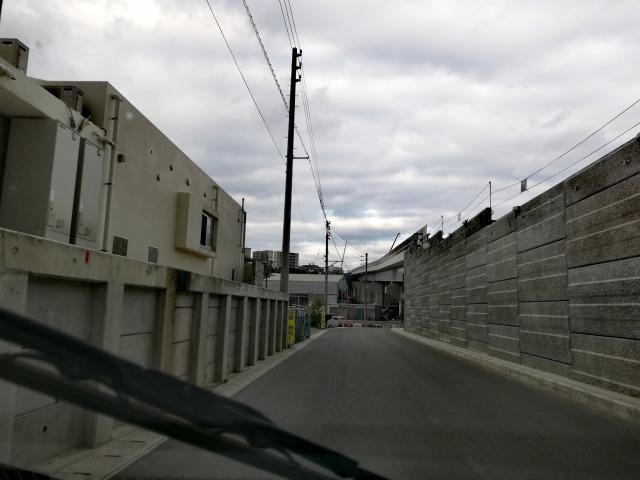 浦西駅周辺の道1